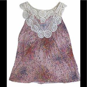 5/$25 Charlotte russe crochet neck blouse